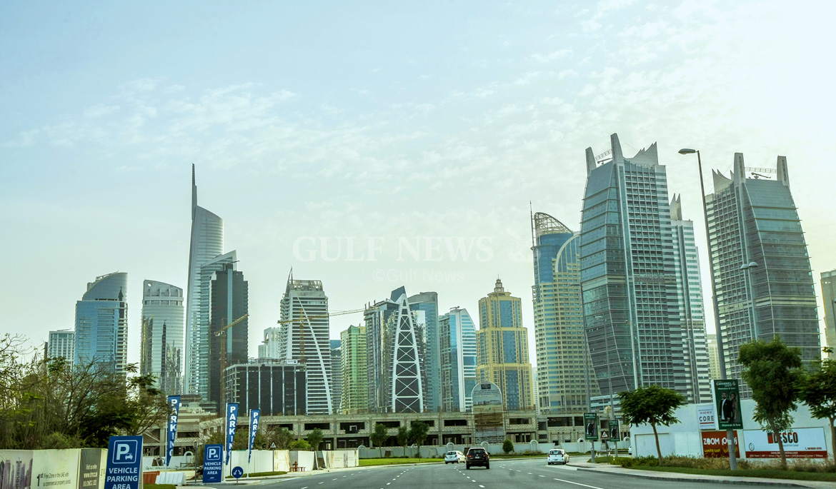 view from the road jlt dubai