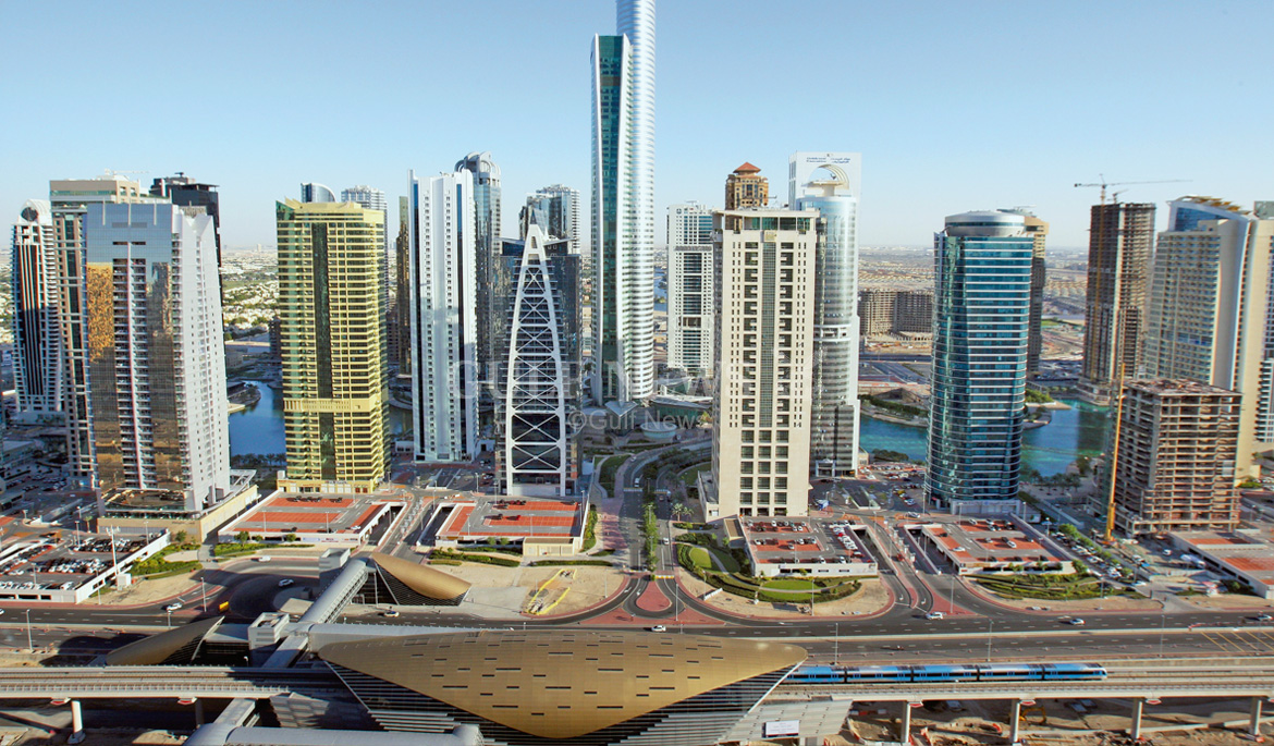Jlt View From Dubai Marina