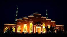 salam mosque al barsha at night